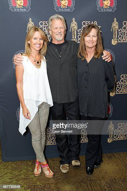 Tracy Kristofferson Kris Kristofferson and Lisa Meyers arrives at the Cesar Chavez 2015 Legacy Awards at Westin Bonaventure Hotel on March 26 2015 in...