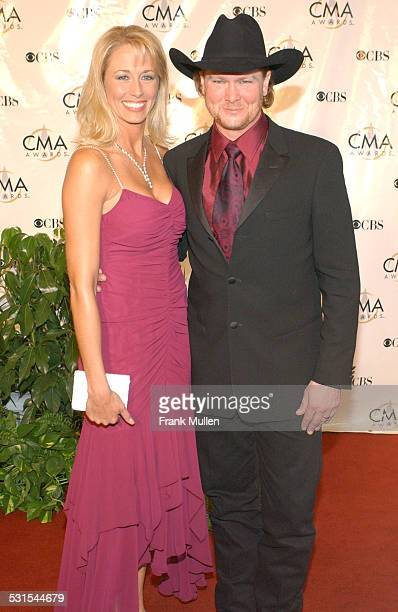 Tracy Lawrence and wife Becca during 38th Annual Country Music Awards Arrivals at Grand Ole Opry House in Nashville Tennessee United States