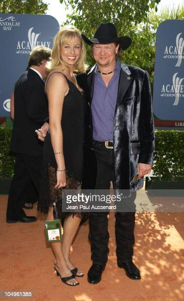 Tracy Lawrence and wife during 38th Annual Academy of Country Music Awards Arrivals at Mandalay Bay Event Center in Las Vegas Nevada United States
