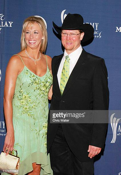 Tracy Lawrence and wife during 40th Annual Academy of Country Music Awards Arrivals at Mandalay Bay Resort and Casino Events Center in Las Vegas...