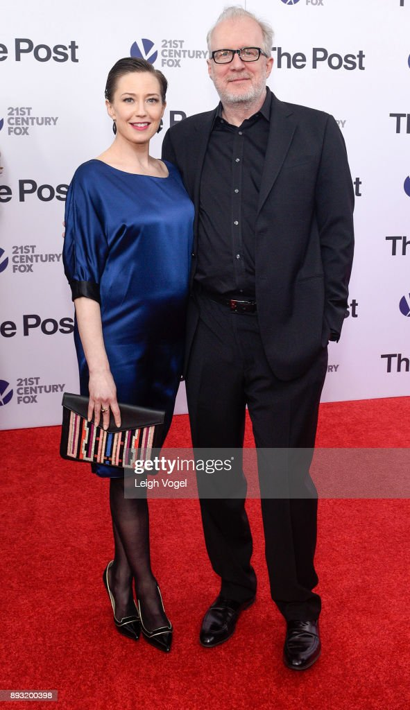 Tracy Letts and Carrie Coon arrive at 'The Post' Washington, DC premiere at The Newseum on December 14, 2017 in Washington, DC.