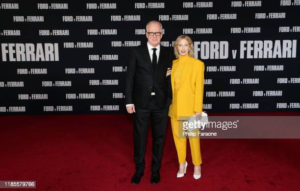 Tracy Letts and Carrie Coon attend the premiere of FOX's Ford V Ferrari at TCL Chinese Theatre on November 04 2019 in Hollywood California