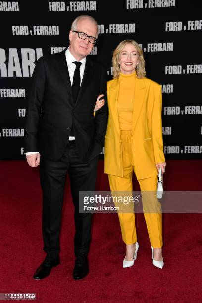 Tracy Letts and Carrie Coon attends the Premiere Of FOX's Ford V Ferrari at TCL Chinese Theatre on November 04 2019 in Hollywood California