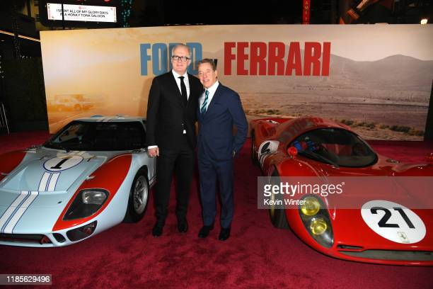 Tracy Letts and William Clay Ford Jr arrive at the premiere of Fox's Ford V Ferrari at the TCL Chinese Theatre on November 04 2019 in Hollywood...