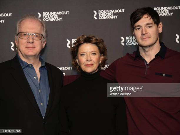 Tracy Letts Annette Bening and Benjamin Walker attend the 'All My Sons' cast photo call at the American Airlines Theatre on March 8 2019 in New York...