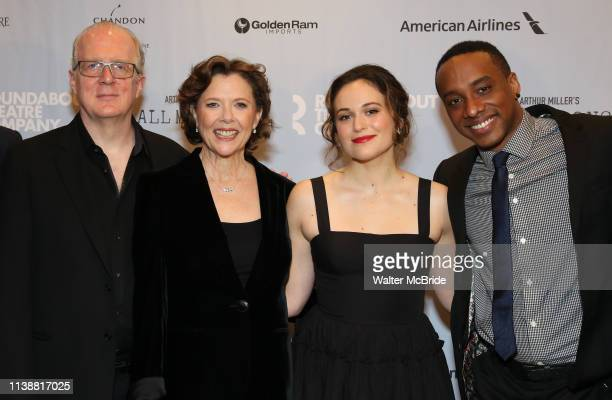 Tracy Letts Annette Bening Francesca Carpanini and Hampton Fluker attend the Broadway Opening Night After Party for All My Sons at The American...