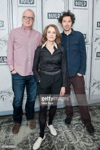 Tracy Letts Debra Winger and Azazel Jacobs visit Build Studio to discuss 'The Lovers' at Build Studio on May 4 2017 in New York City