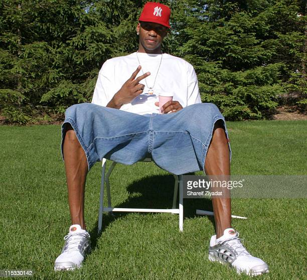 Tracy Mcgrady of Orlando Magic during Stephon Marburys Daughters Birthday Party at Stephan Marburys Home in New York New York United States