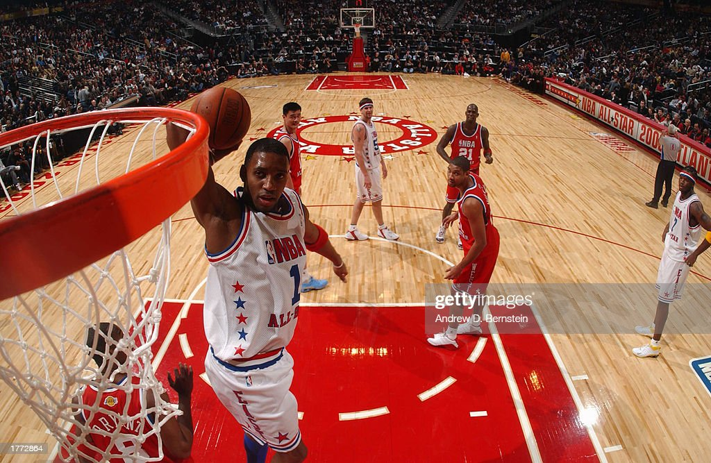 675b77fd7 Tracy McGrady of the Eastern Conference dunks during the 52nd NBA All Star  Game on February