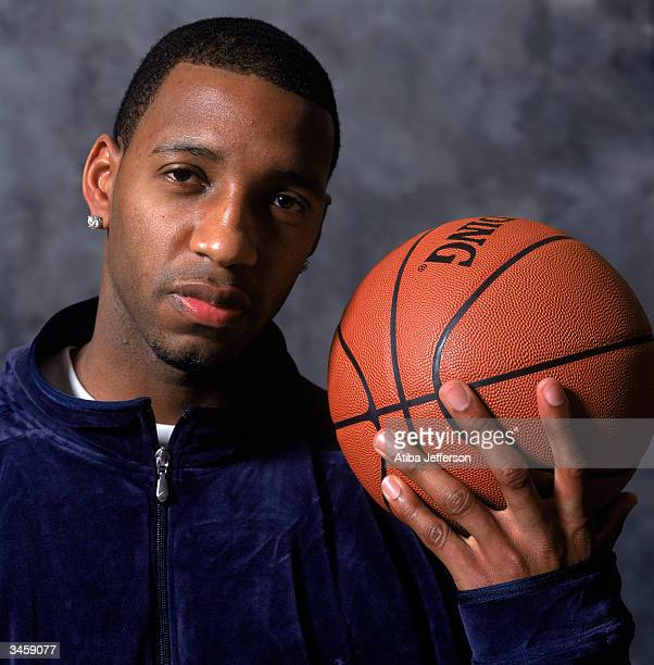 ff57aa386bd6 Tracy McGrady of the Orlando Magic poses for a portrait during the 2004 NBA  AllStar Weekend