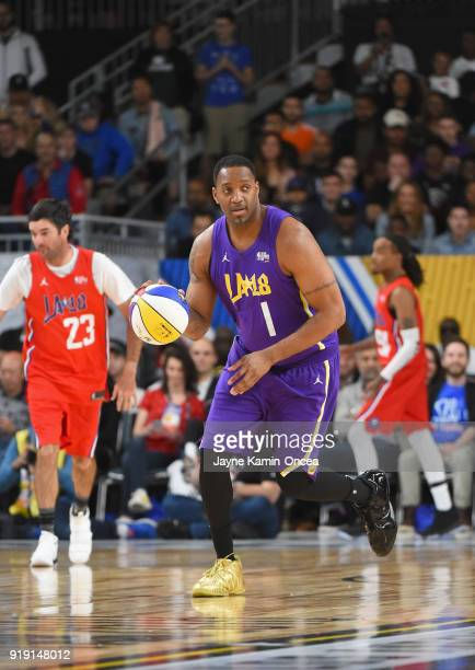Tracy McGrady plays during the 2018 NBA AllStar Game Celebrity Game at Los Angeles Convention Center on February 16 2018 in Los Angeles California