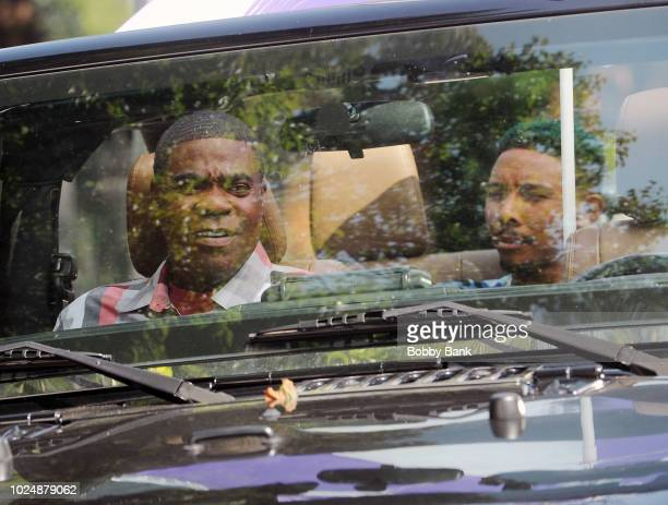 Tracy Morgan and Allen Maldonado are seen on the set of 'The Last OG' on August 28 2018 in Brooklyn New York
