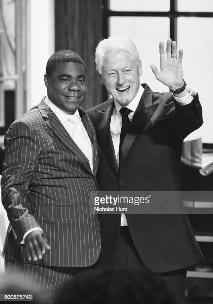 Tracy Morgan and Former United States President Bill Clinton attend the Spike's One Night Only Alec Baldwin at The Apollo Theater on June 25 2017 in...