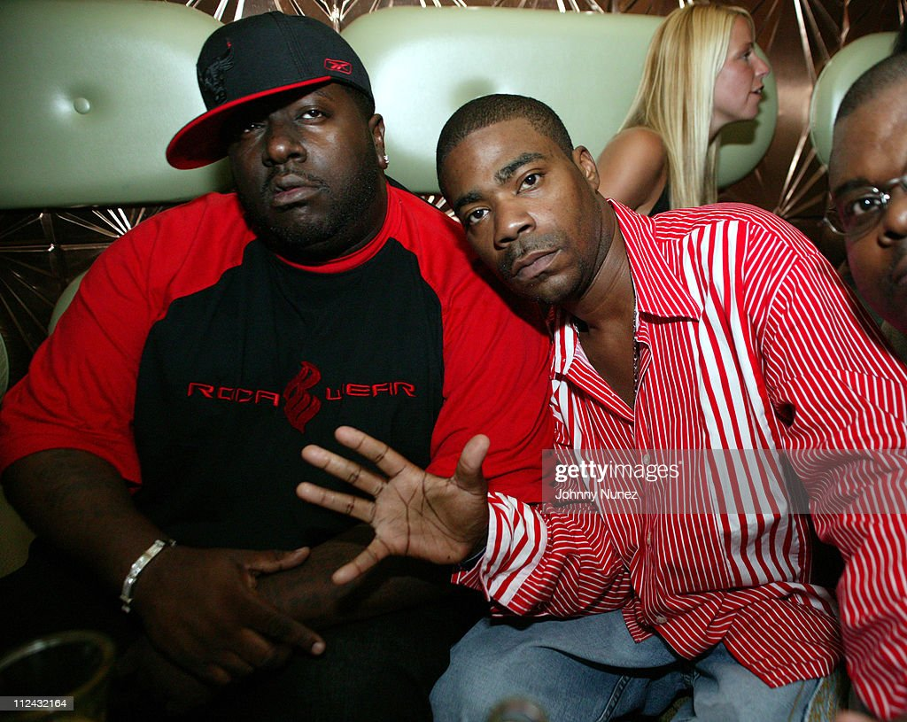 Tracy Morgan (right) and guest during Jadakiss' 'Kiss Of Death' Album Release Party at Deep in New York City, New York, United States.