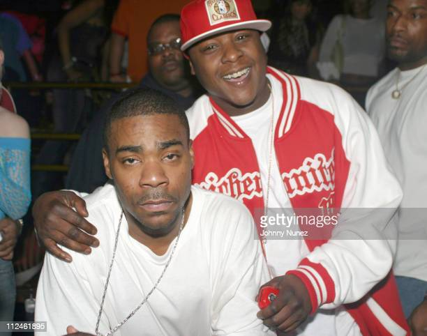 Tracy Morgan and Jadakiss during Carl Thomas' 'Let's Talk About It' Album Release Party at Show in New York City New York United States