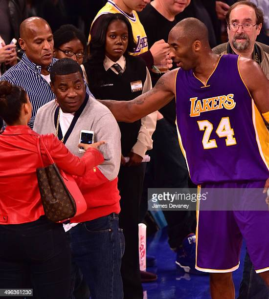 Tracy Morgan and Kobe Bryant attend New York Knicks vs Los Angeles Lakers game at Madison Square Garden on November 8, 2015 in New York City.