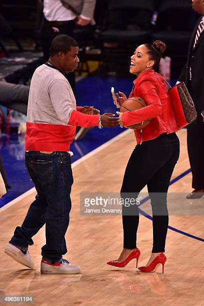 Tracy Morgan and Megan Morgan attend New York Knicks vs Los Angeles Lakers game at Madison Square Garden on November 8, 2015 in New York City.