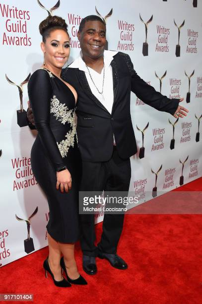 Tracy Morgan and Megan Wollover attend the 70th Annual Writers Guild Awards New York at Edison Ballroom on February 11 2018 in New York City