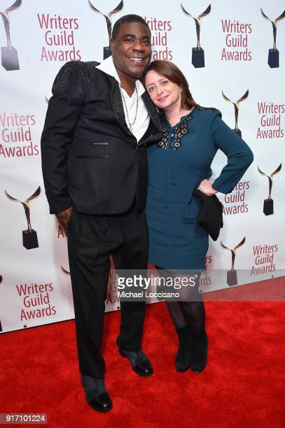 Tracy Morgan and Rachel Dratch attend the 70th Annual Writers Guild Awards New York at Edison Ballroom on February 11 2018 in New York City