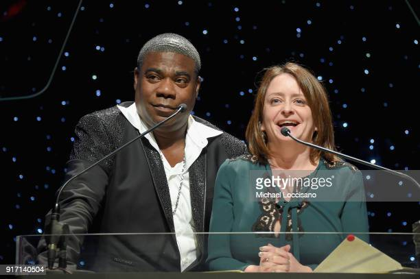 Tracy Morgan and Rachel Dratch speak onstage during the 70th Annual Writers Guild Awards New York at Edison Ballroom on February 11 2018 in New York...