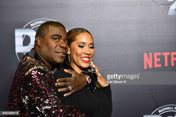 Tracy Morgan and wife Megan Morgan attend Netflix Presents Russell Simmons 'Def Comedy Jam 25' Special Event at The Beverly Hilton Hotel on September...