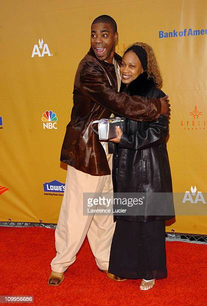 Tracy Morgan and wife Sabina during Apollo Theater Foundation's 70th Anniversary Benefit Celebration A Hot Night in Harlem Arrivals at Apollo Theater...