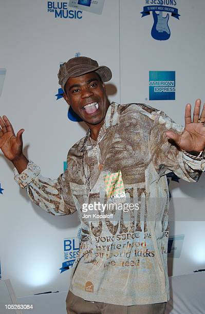 Tracy Morgan arrives at House of Blues for Blue Jam Sessions presented by Blue from American Express to help generate money and awareness for music...