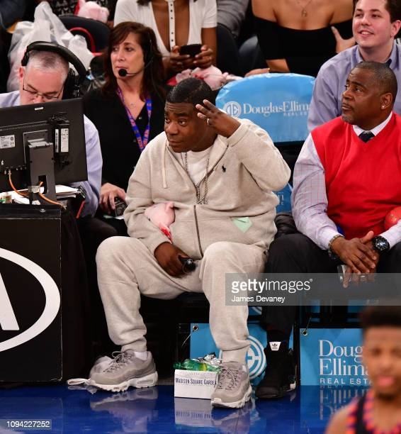 Tracy Morgan attends Detroit Pistons v New York Knicks game at Madison Square Garden on February 5 2019 in New York City