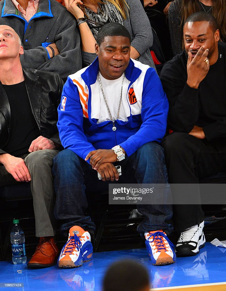 Tracy Morgan attends the Houston Rockets vs New York Knicks game at Madison Square Garden on December 17, 2012 in New York City.