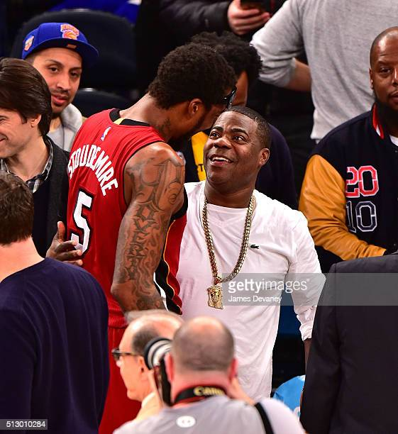 Tracy Morgan attends the Miami Heat vs New York Knicks game at Madison Square Garden on February 28, 2016 in New York City.
