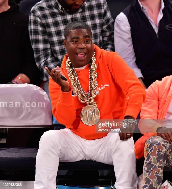 Tracy Morgan attends the New York Knicks vs Atlanta Hawks game at Madison Square Garden on October 17 2018 in New York City