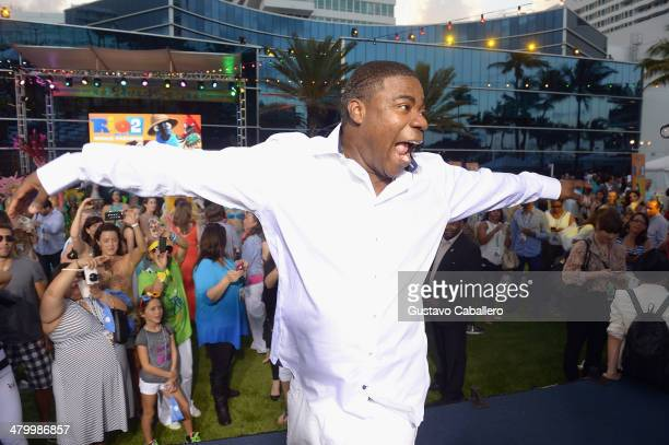 Tracy Morgan attends the 'Rio 2' Premiere at Fontainebleau Miami Beach on March 21, 2014 in Miami Beach, Florida.