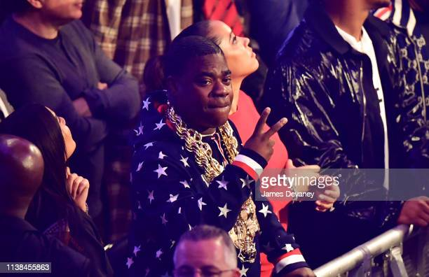 Tracy Morgan attends WBO welterweight title fight between Terence Crawford and Amir Khan at Madison Square Garden on April 20 2019 in New York City