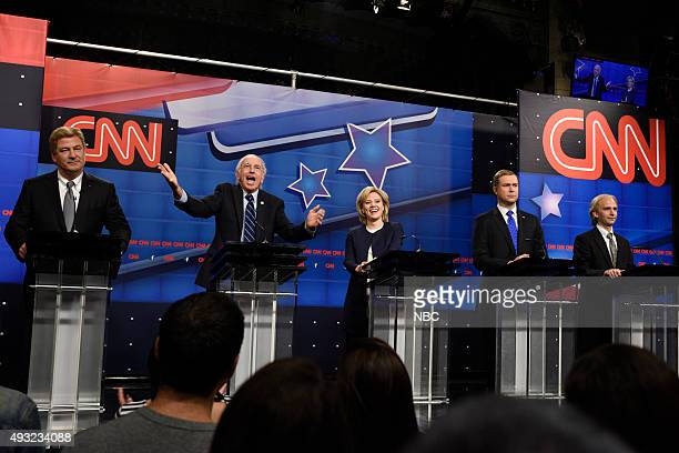 LIVE Tracy Morgan Episode 1686 Pictured Alec Baldwin as Jim Webb Larry David as Bernie Sanders Kate McKinnon as Hillary Clinton Taran Killam as...