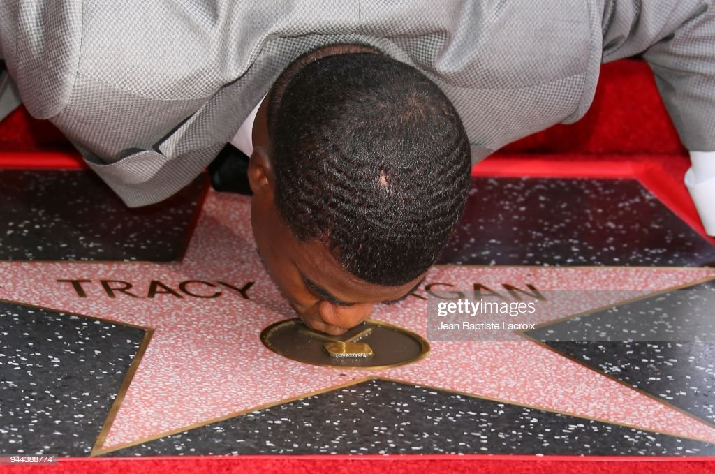 Tracy Morgan Honored With Star On The Hollywood Walk Of Fame : News Photo