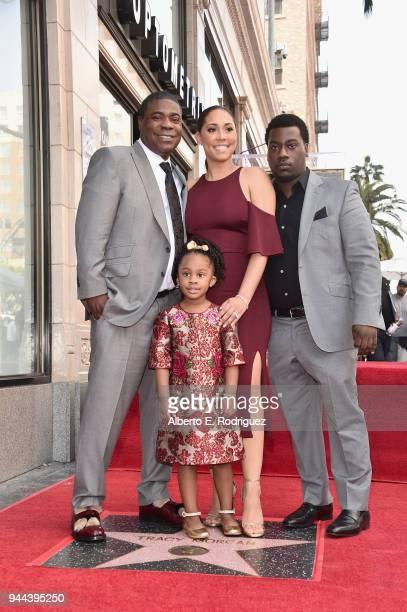 Tracy Morgan Maven Morgan Megan Morgan and Tracy Morgan Jr attend Tracy Morgan's Star Ceremony on the Hollywood Walk of Fame on April 10 2018 in Los...