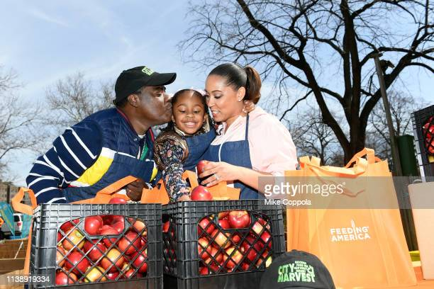 Tracy Morgan Maven Sonae Morgan and Megan Wollover attend The Last OG Season 2 Garden Party For Good at the Hattie Carthan Community Garden in...