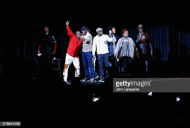 Tracy Morgan on stage with Dominque Rickey Smiley Aries Spears Donnell Rawlings Felipe Esparza Deray Davis and Tony Woods perform during Hot 97...
