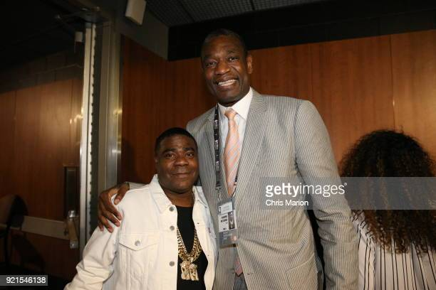 Tracy Morgan poses with Dikembe Mutombo during the NBA AllStar Game as a part of 2018 NBA AllStar Weekend at STAPLES Center on February 18 2018 in...