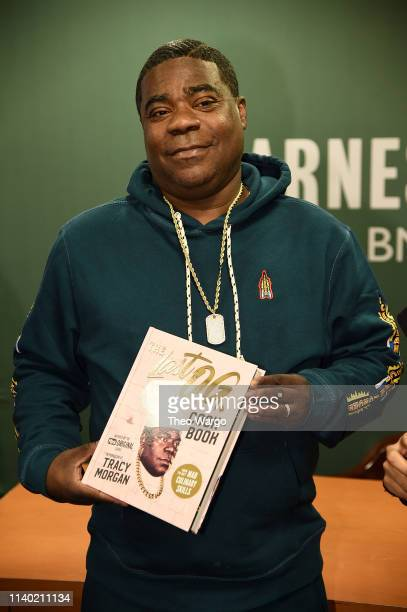 Tracy Morgan Signs Copies Of The Last OG Cookbook How To Get Mad Culinary Skills at Barnes Noble 5th Avenue on April 03 2019 in New York City