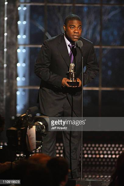 Tracy Morgan speaks onstage at the First Annual Comedy Awards at Hammerstein Ballroom on March 26, 2011 in New York City.