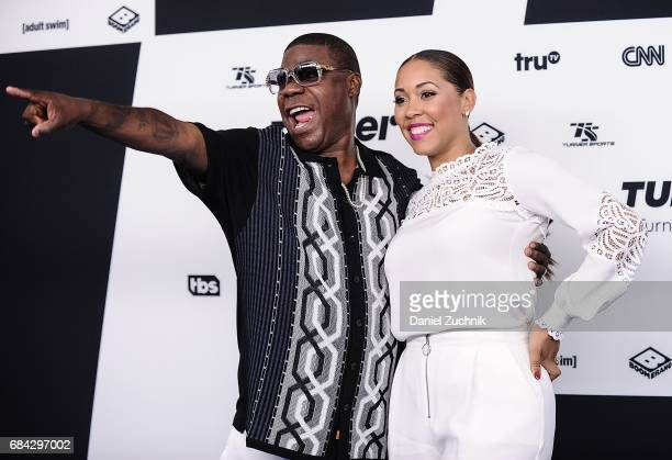 Tracy Morgan with spouse Megan Wollover attend the 2017 Turner Upfront at Madison Square Garden on May 17 2017 in New York City
