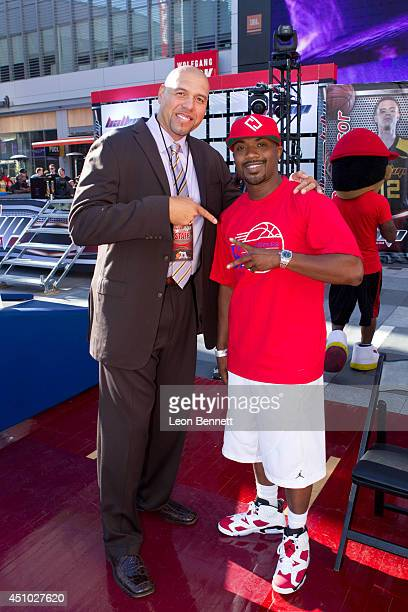 Tracy Murray and Ray J attended The Ball Up National Street Ball Tour at Nokia Plaza LA LIVE on June 21 2014 in Los Angeles California