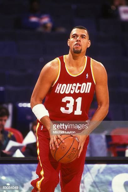 Tracy Murray of the Houston Rockets before a NBA basketball game against the Washington Bullets at USAir Arena on February 17 1995 in Landover...