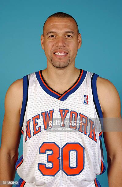 Tracy Murray of the New York Knicks poses for a portrait during NBA Media Day on October 4 2004 in New York New York NOTE TO USER User expressly...
