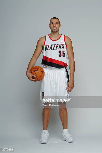 Tracy Murray of the Portland Trail Blazers poses for a portrait during NBA Media Day at the Rose Garden on October 2 2003 in Portland Oregon NOTE TO...