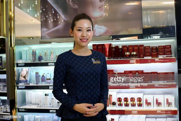 Tracy Ng, Beauty Advisor of the DFS at Canton Road, Tsim Sha Tsui. 02MAR15