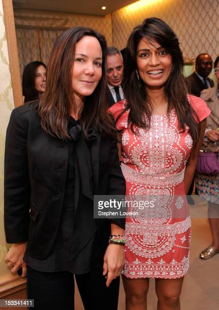 Tracy Paul and designer Mrinalini Kumari attend a cocktail reception for Tracy Paul And Company Presenting Buccellati's Pendant Earring Collection...