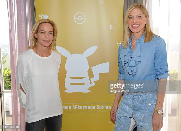 Tracy Paul and Petra Flannery attend Tracy Paul Co presents Pokemon Afternoon Soiree at Sunset Tower on February 27 2016 in West Hollywood California