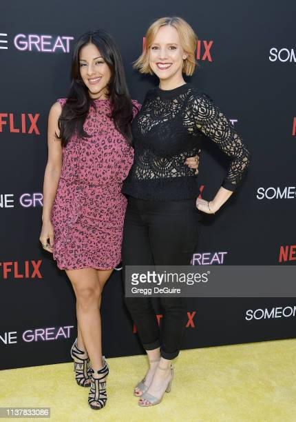 "Tracy Perez and Nina Rausch attend the Los Angeles Special Screening Of Netflix's ""Someone Great"" at ArcLight Hollywood on April 17, 2019 in..."